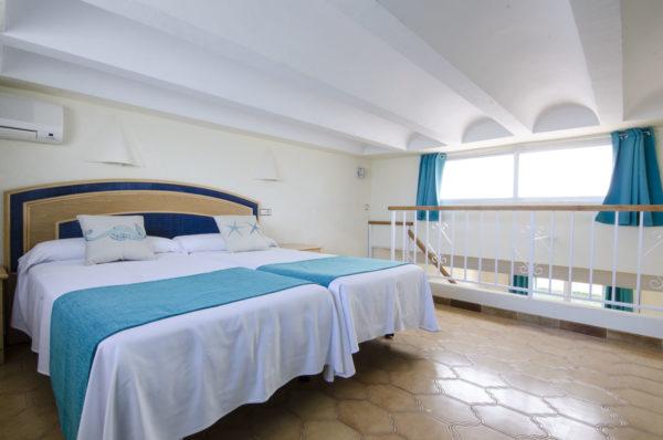 Estudio cuádruple dormitorio dos - Hotel Marazul Mojácar